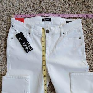 Buffalo David Bitton Jeans - David Bitton Midrise Super Soft White Ankle Jeans